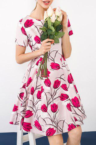 Cheap Pleated Floral Dress