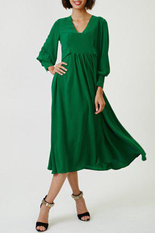 Outfit High Waist Ruched Midi Dress