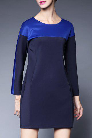 Store Colorblock Long Sleeve Mini Dress