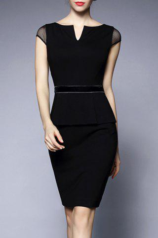 Online V-Neck Sheath Peplum Dress