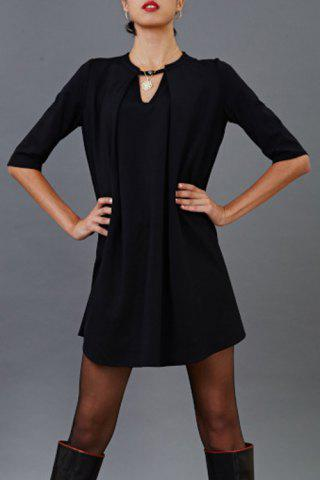 Outfit Pleated Cut Out Mini Dress
