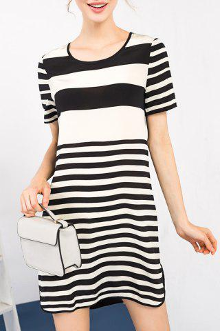 Fashion Stripe Print Silk Dress