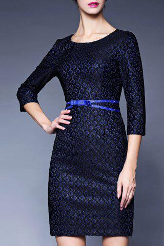 Affordable Lace Belted Fitted Dress