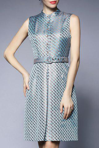 Buy Printed Button Up Knee Length Dress