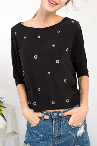 Discount Batwing Sleeve Cut Out T-Shirt