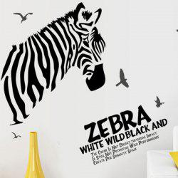 Chic Quality Zebra and Sea Mew Pattern Removeable Wall Stickers -