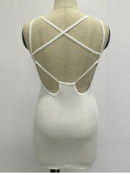 Criss Cross Backless Mini Bodycon Dress