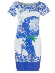 Porcelain Short Sleeve Bodycon Dress