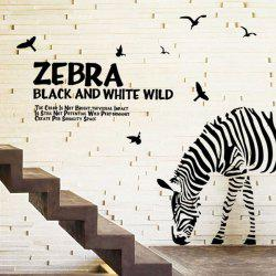 Letters and Zebra Removeable Wall Stickers Animals
