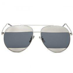 Stylish Two Color Match Lenses Hipsters Sunglasses For Unisex Aviator -