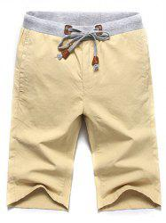Casual Lace Up Summer Solid Color Shorts For Men -