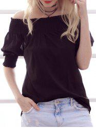 Stylish Off-The-Shoulder Ruffled Design Women's Chiffon Blouse -
