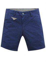 Casual Zip Fly Summer Solid Color Shorts For Men