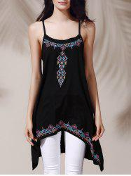 Ethnic Style Spaghetti Straps Geometric Print Dress For Women -