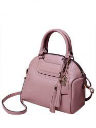 Graceful Tassel and Solid Color Design Tote Bag For Women