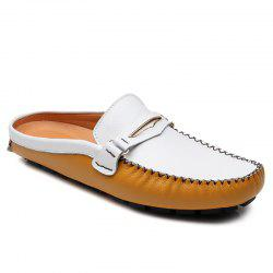 Leisure Stitching and Color Block Design Loafers For Men -