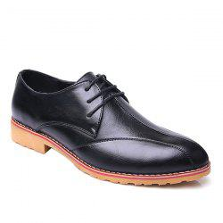 Fashionable Stitching and PU Leather Design Formal Shoes For Men -