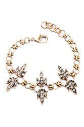 Chic Rhinestone Grass Bracelet For Women -