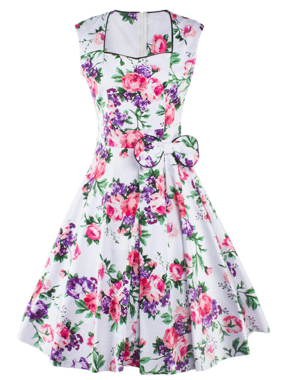 Tea Length Vintage Swing Dress DRESSFO