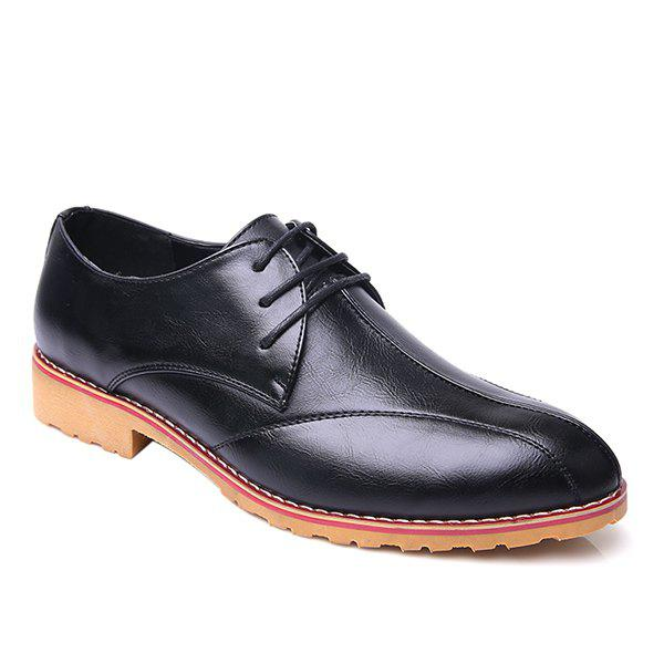 Hot Fashionable Stitching and PU Leather Design Formal Shoes For Men