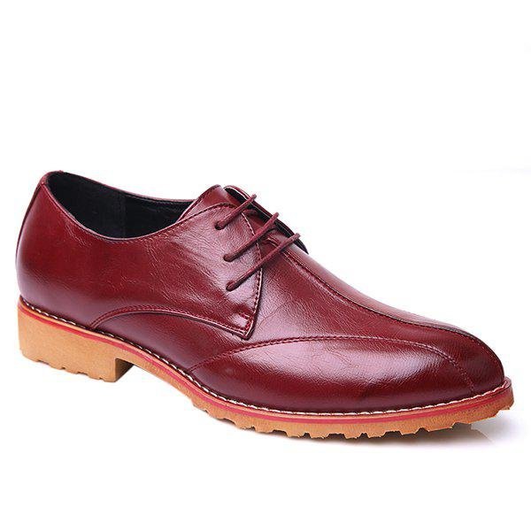 Outfits Fashionable Stitching and PU Leather Design Formal Shoes For Men