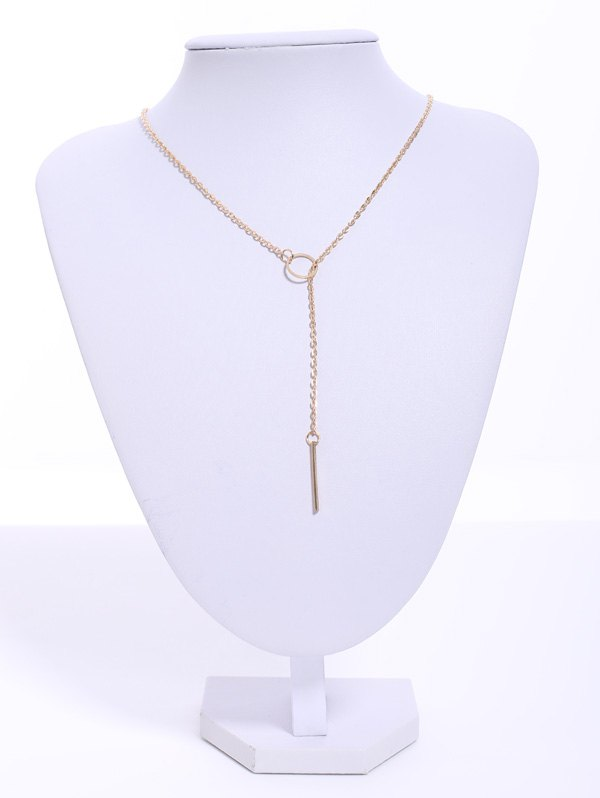 Sale Circle Bar Pendant Necklace