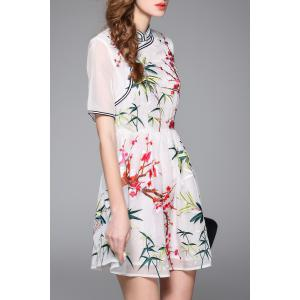Embroidered Mandarin Dress -