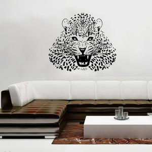3D Leopard Vinyl Wall Art Stickers For Bedrooms -