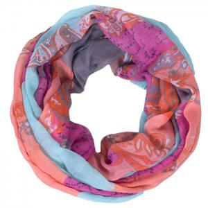 Chic Flower and Paisley Pattern Colored Voile Bib Scarf For Women -