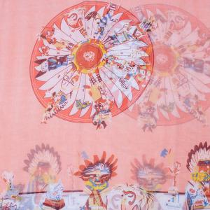 Chic American Indian Tribal Style Printed Voile Bib Scarf For Women - LIGHT PINK
