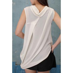 V Neck Asymmetrical Chiffon Tank Top -