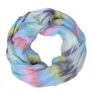 Chic Scrawl Pattern Light Color Voile Bib Scarf For Women -