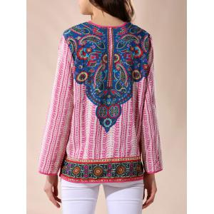 Indian Print V Neck Blouse -