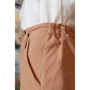 Ruched Solid Color Pencil Pants -