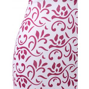 Tribal Print Cut Out Prom Maxi Dress - PINK XL