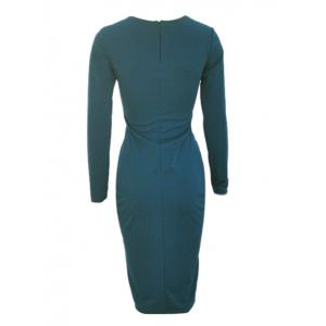 Long Sleeve Hollow Out Bodycon Dress with Long Sleeve -