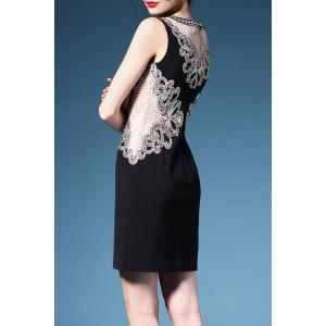 Sleeveless Embroidered Cutwork Dress -