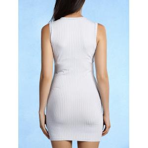 Fashionable Round Collar Sleeveless Solid Color Skinny Women's Dress -