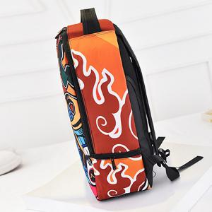 Leisure Peking Mask and Multicolor Design Backpack For Men -