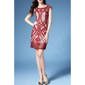 Embroidered Bodycon Dress -