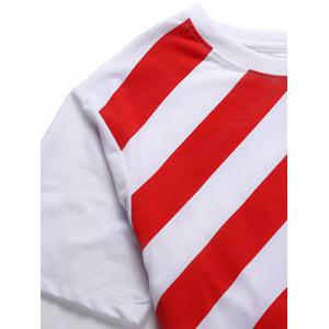 Vogue Round Neck American Flag Print Short Sleeves T-Shirt For Men -