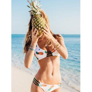 Pineapple Reversible Strappy Cute Bathing Suit -