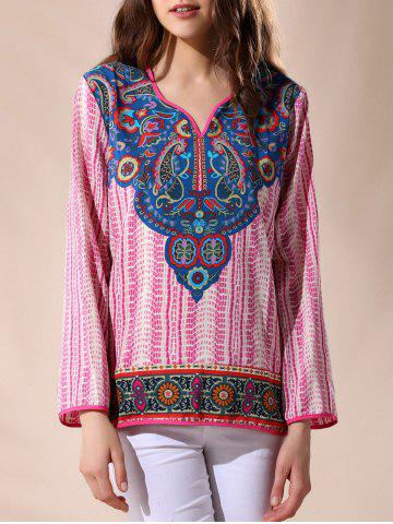 Best Indian Print V Neck Blouse