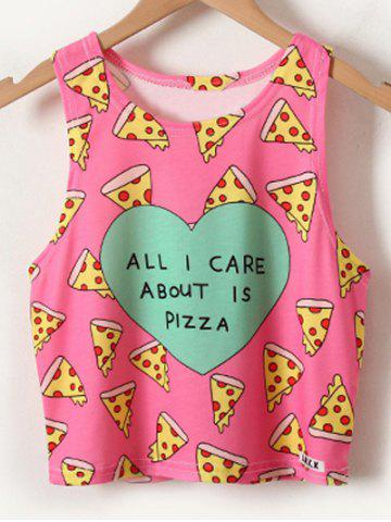 Outfit Chic Women's Pizza Print Tank Top