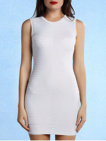 Trendy Fashionable Round Collar Sleeveless Solid Color Skinny Women's Dress