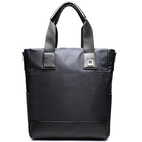 Trendy Casual Solid Color and Nylon Design Briefcase For Men