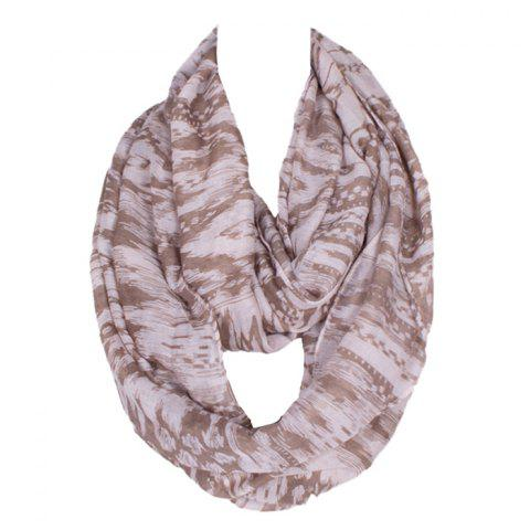 Outfits Chic Hazy Geometry Pattern Voile Bib Scarf For Women