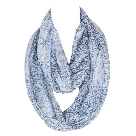 Hot Chic Handpainted Geometric Flowers Pattern Voile Bib Scarf For Women