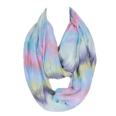 Best Chic Scrawl Pattern Light Color Voile Bib Scarf For Women