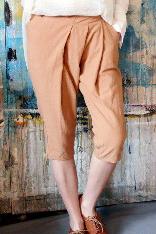 Buy Ruched Solid Color Pencil Pants